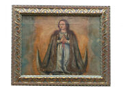 Rare Antique 18th Century Spanish Colonial Our Lady Of Conception Oil On Wood