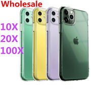Wholesale Bulk For Iphone 12 11 Pro Max Se 7 Xs Xr Case Lot Clear Silicone Cover