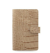 Filofax A6 Compact Classic Croc Organiser Planner Diary Fawn Leather - 026011