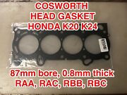 K20a Head Gasket Cosworth For Honda Acura Rsx Tsx K24a2 K20a2 K20z1 87mm Bore