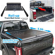 Istunt Retractable-roll-up Hard Tonneau Cover For Ford F-150 5.5ft Bed 2010-2020