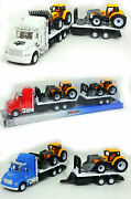 Friction Power Truck Tractor Trailer Transporter Container Kids Toy Gift