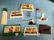 O Scale 3 Plasticville Billboard Sign 1 Standard And Parts Lot O Scale
