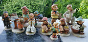 Hummel Figurines 35 Vintage Full Bee And Goebel Collection And Book