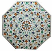 42 Marble Coffee Table Top Inlay Handicraft Work For Home Decor And Gift