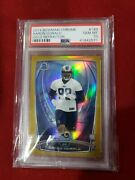 Aaron Donald Rc Bowman Chrome Refractor Gold Psa 10 Out Of 50