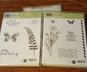 Stampin Up Butterfly Basics Rubber Stamp And Butterflies Thinlits New