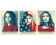 Set Of 3 Shepard Fairey We The People I Am America Litho Posters Art Prints Obey