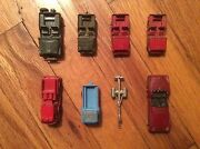 Lot Of 8 Vintage/antique Tootsie Toy Vehicles -cars/trucks/trailers -usa 60-70's