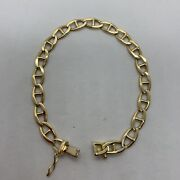 Italy 18k Yellow Gold Cable Anchor Link Chain Bracelet 18.6g 8.25 7mm Wide Fine