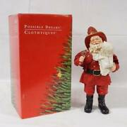 Fireman And Child Clothtique Santas By Possible Dreams 713106 W/orig Box - 1993