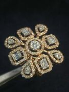 1.66 Cts Round Brilliant Cut Natural Diamonds Wedding Ring In 750 Solid 18k Gold