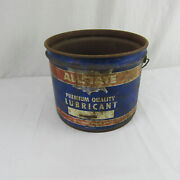 Allstate Empty 25 Lb Grease Oil Lubricant Can Vintage Sears Roebuck And Co.