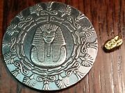 .33 Grams Gold Nugget And 1/4 Oz .999 Fine Monarch King Tut Silver Round