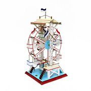 Vintage Doll Et Cie German Painted Tin Ferris Wheel Steam Toy Accessory Nice