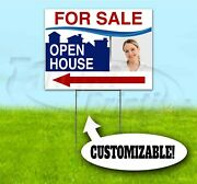 Open House For Sale Custom 18x24 Yard Sign With Stake Bandit Realtor Real Estate