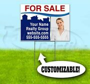 For Sale Realtor Custom 18x24 Yard Sign With Stake Bandit Usa Realty Real Estate