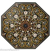42 Marble Coffee Center Table Top Lapis Inlay Pietra Dure Art For Home And Gift