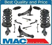 Front Struts Control Arms Tie Rods Links Free Boots 12pcs For Toyota Camry 3.5l