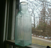 Iron Pontil Underwood And Co Boston 64 Oz Pickle Bottle With Raised Square Panels