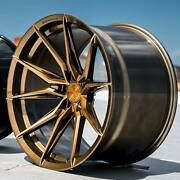20 Rohana Rfx13 20x9/10 Brushed Bronze Concave Wheels For Audi A6 S6