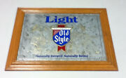 Old Style Light Beer Sign Mirror Bar Signs 1 Vintage G. Heileman Brewery C10