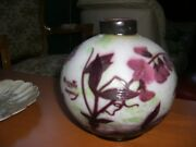 Very Rare French Cameo Art Glass Vase By A. Delatte Nancy 1920's