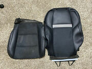 2012-2014 Toyota Camry Front Passenger Right Seat Leather Cover Two Pieces Black