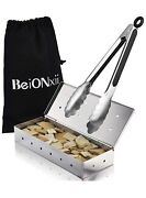 Beionxii Smoker Box For Gas Grill Charcoal Electric Grill With Tongs New