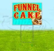 Funnel Cake 18x24 Yard Sign With Stake Corrugated Bandit Usa Business Food