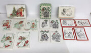 Vintage Lot Unused Children Christmas Cards Lot By A Sunshine Card Diecut Boxes