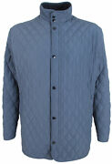 Paul And Shark Yachting Menand039s Winter Quilted Jacket Size 4xl Blue Zipper Pockets