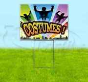 Costumes 18x24 Yard Sign With Stake Corrugated Bandit Usa Business Halloween