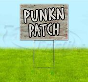 Pumpkin Patch 18x24 Yard Sign With Stake Corrugated Bandit Usa Business Autumn