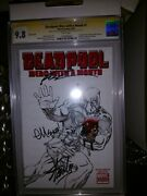 Deadpool Merc With A Mouth Andnbspsdcc Sketch Variant Cgc 9.8 Ss