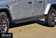 Stain Black 5 Iboard Side Step Nerf Bar Fit 20-22 Jeep Gladiator Crew Cab