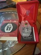 Waterford Crystal The Joy's Of Winter Collection Custom Set Of 3 Ornaments