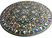 48 Marble Center Coffee Table Top Lapis Inlay Work Home And Garden