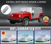 For Jeep Wrangler Jl Jk Car Cover Fitted Water Proof Outdoor Rain Snow Sun Dust