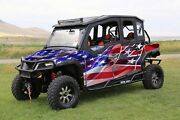 16-current Polaris General 1000 4 Graphic Matte Wrap American Faded Rbl Flag Kit