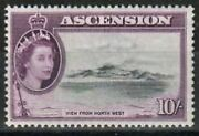 Ascension Stamp - View Of Ascension From Northwest Stamp - Nh