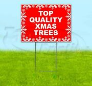 Top Quality Xmas Trees 18x24 Yard Sign With Stake Corrugated Bandit Usa Holidays