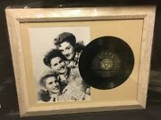 Andrews Sisters 16x13 Framed Photo W/ Dimples And Cherry Cheeks 45rpm Record