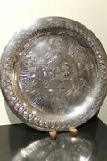Pure Sterling Silver Egyptian Tray Engraved Egyptian Scenes 462 Grams 999