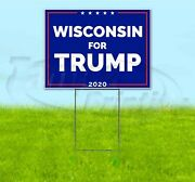 Wisconsin For Trump 2020 18x24 Yard Sign With Stake Corrugated Bandit Usa Maga