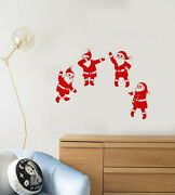 Vinyl Wall Decal Santa Claus Party New Year Christmas Funny Stickers 4162ig
