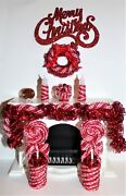 New 112 Dollhouse Miniature Christmas Candy-cane Mantle Decorations-ornaments