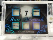 Rare 2017 Mickey Mantle Leaf Rare Materials Game Worn Jersey Card