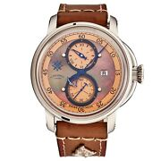 L. Kendall Menand039s K5 Brown Mop Dial Brown Leather Strap Automatic Watch K5-002