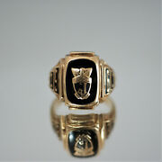 10k Solid Yellow Gold 1961jamestown Class Ring Size 8.5 11.05g A1952